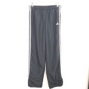 Adidas classic black track pants ankle zip LONG